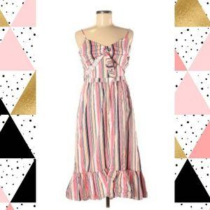 Pink Candy Striped ruffled dress
